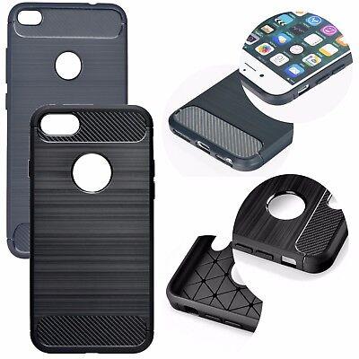 Tasche Back Case Schutz Etui Hülle TPU Cover CARBON Für SamsungGalaxy A2 Core (Etui Samsung Galaxy Core 2)