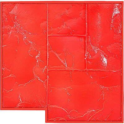 Vevor Slate 2 Seamless Texture Stamp Mat Skin Concrete Cement Stamping Tool Red