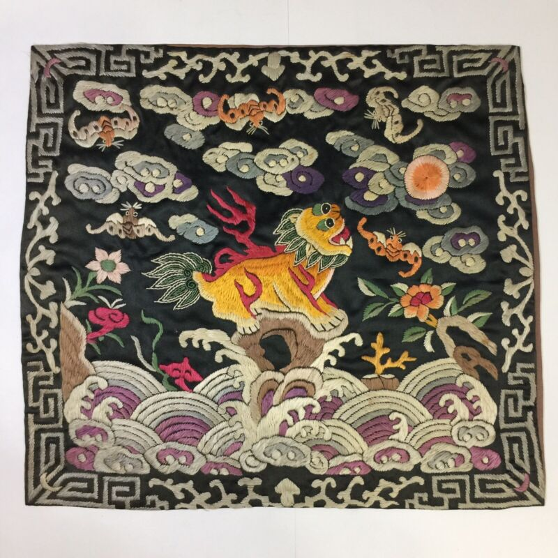 Antique Chinese MANDARIN RANK BUZI Silk Embroidery China QING DYNASTY