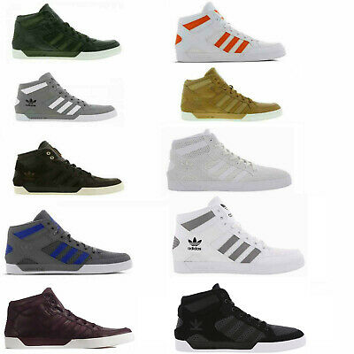 Original Adidas Hard Court Hi Black Brown Tan White Orange Green Trainers