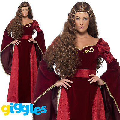 Medieval Queen Costume Cersei Game of Thrones Womens Ladies Fancy Dress Outfit