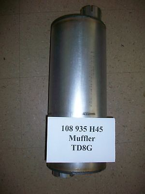 International Dresser Ih Td8g 125e Loader 450 830 Motor Grader 108935h45 Muffler