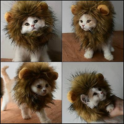 Pet Costume Lion Mane Fancy Wig for Dog/Cat Adjustable Washable Halloween Party (Golden Retriever Lion Halloween Costumes)