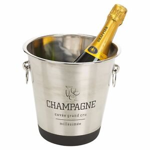 Large Stainless Steel Champagne Metal Party Bowl Wine Beer Ice Cooler Bucket