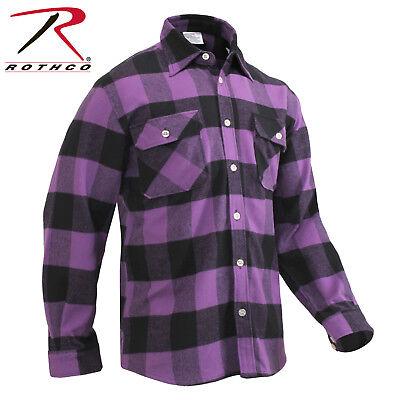 Rothco Extra Heavyweight Buffalo Plaid Purple Flannel Shirt