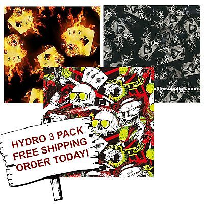Hydrographic Film Water Transfer Printing Film Hydro Dip Aces 3 Pack