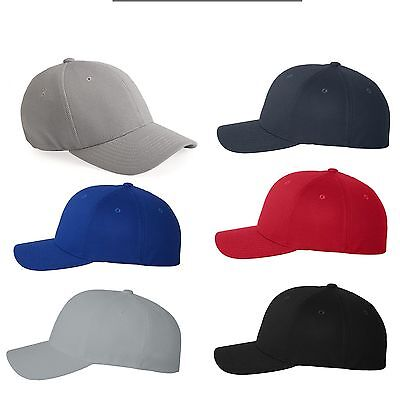 Flexfit Mens Cool & Dry Pique Mesh Fitted Caps Blank Hats - 6577CD Pique Mesh Fitted Cap