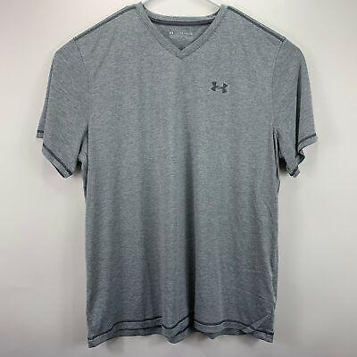Under Armour Mens V-Neck Performance Heatgear T-Shirt Gray 2XL Heatgear V-neck T-shirt