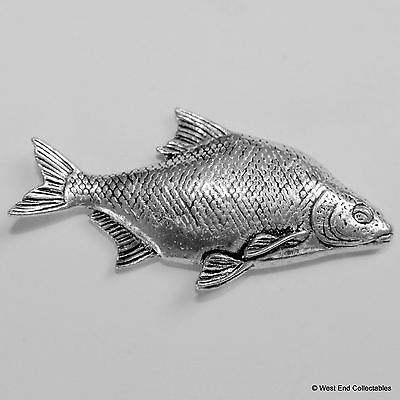 Bream Pewter Pin Brooch -British Hand Crafted- Coarse Fishing Angling Fish
