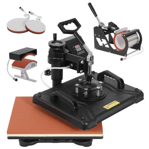 5 in 1 Heat Press Machine Dual Digital Transfer Sublimation for Mug Hat Business & Industrial