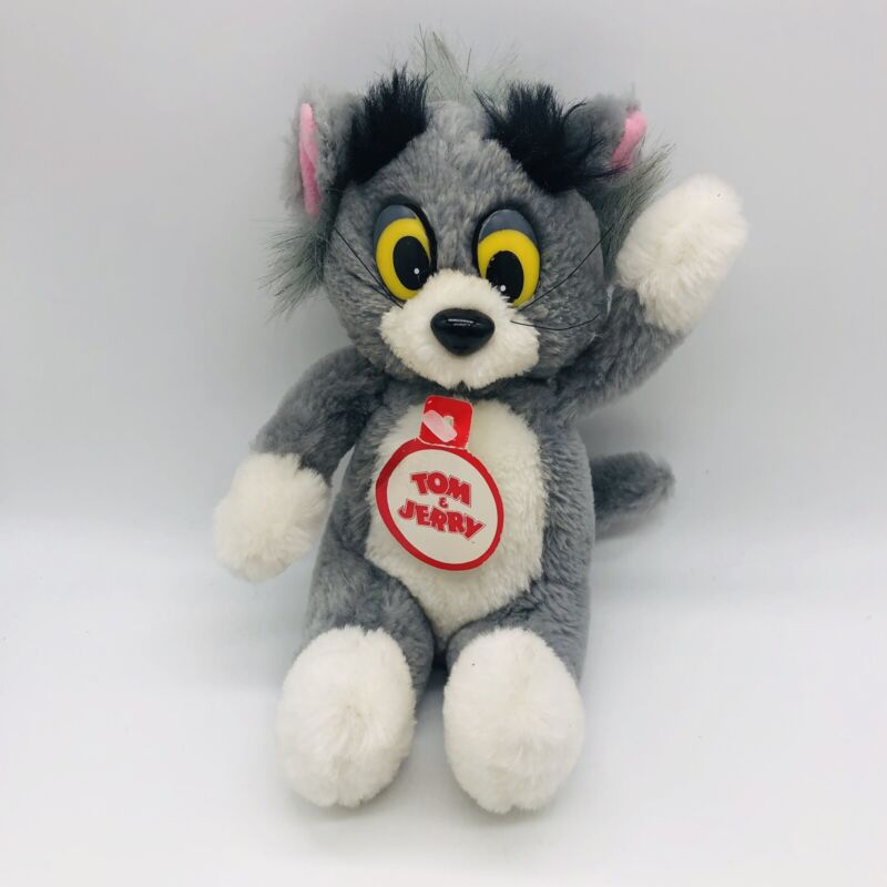 """Vintage Tom And Jerry 8"""" Tom Plush Doll By Presents Hamilton Gifts"""