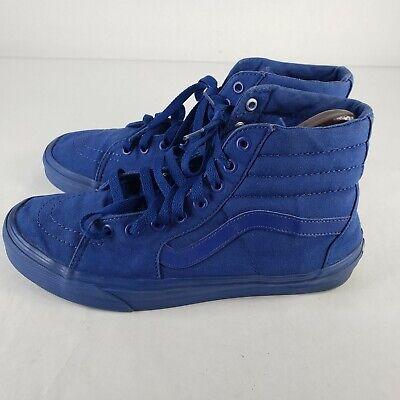 Vans Old Skool Sk8-Hi  721454 Blue Mens Size 9, Womens Size 10.5 Canvas High Top