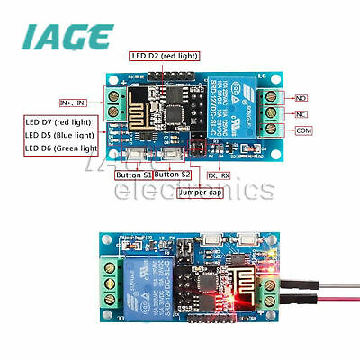 ESP8266 12V Wifi Relais IOT Module Remote Schalter Switch APP Smart Home