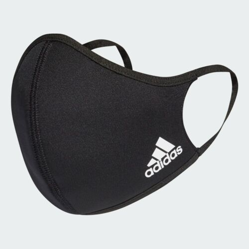 **FREE SHIP ADIDAS FACE MASK BLACK ALL SIZES AUTHENTIC MACHINE WASH REUSABLE**