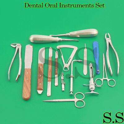 Forceps Elevators Scissors Syring Oral Dental Instrument Lot Of 16 Pcs Aquality