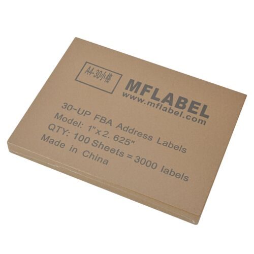 1 x 2 5//8 45000 Labels Address Mailing Adhesive 2.625 x 1 Laser Ink Jet Printer