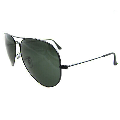 Ray-Ban Sunglasses Large Aviator 3026 Black Green G-15 L2821