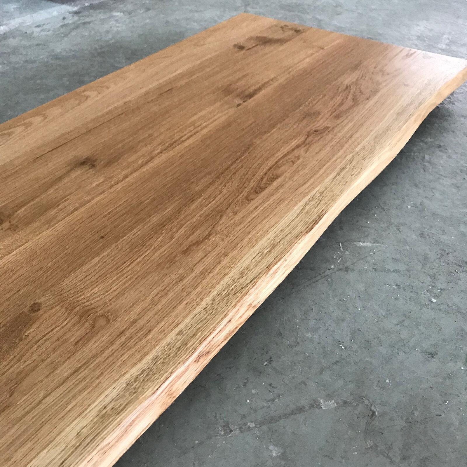 tischplatte platte eiche massiv holz neu tisch brett. Black Bedroom Furniture Sets. Home Design Ideas