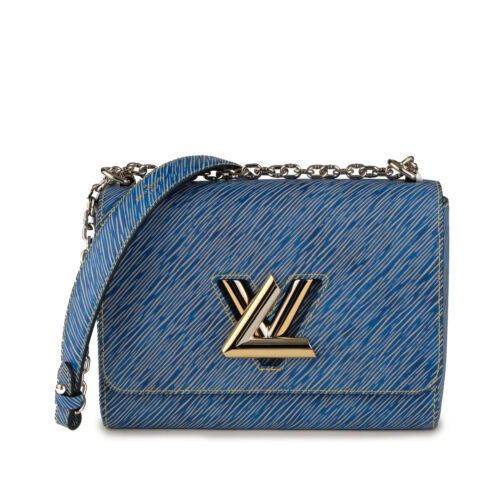 NEW LOUIS VUITTON TWIST MM Denim Blue Epi Leather Shoulder Bag