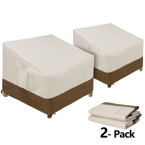 Pack of 2 Patio Chair Covers Deep Seat Lounge Covers 600D Waterproof Outdoor Home & Garden