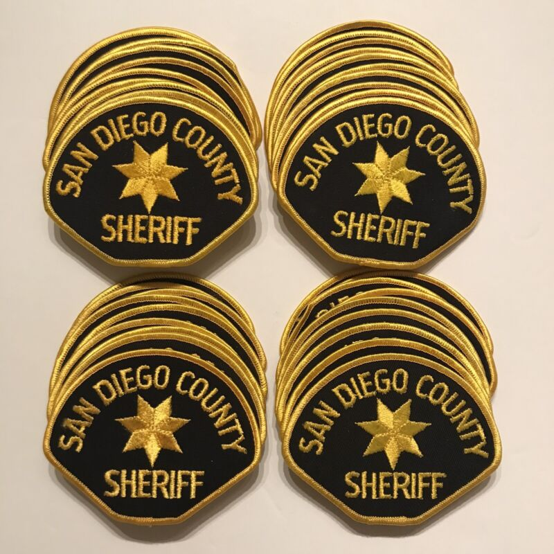 40x San Diego County Sheriff California Police Patches