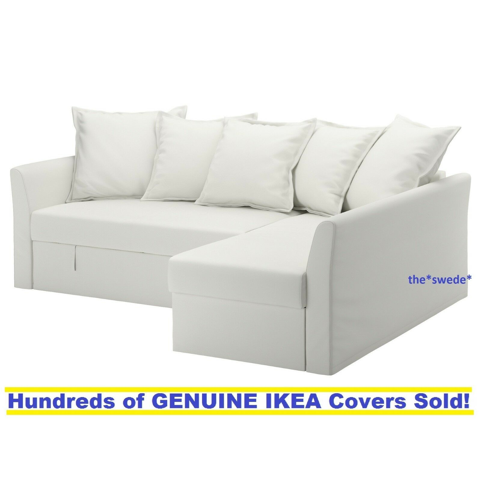 Ikea HOLMSUND Corner Sofa Bed Sectional Cover Slipcover RANS
