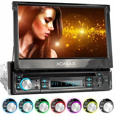 AUTORADIO RADIO COCHE CON DVD CD BLUETOOTH 18cm PANTALLA TÁCTIL USB AUX-IN