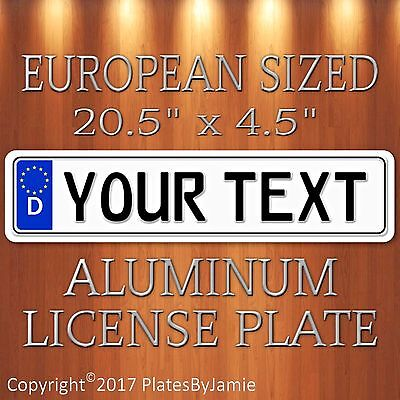 Custom GERMAN EURO license plate tag