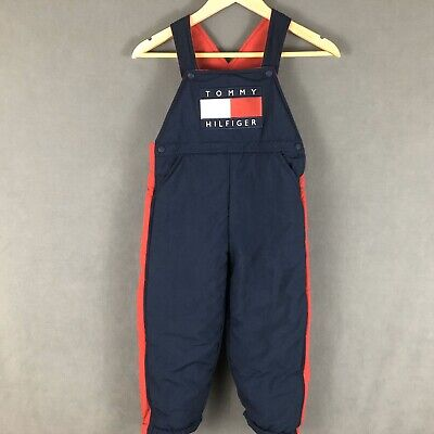 Tommy Hilfiger Vintage 90s Toddler Overall Snow Coverall Pants Size 4T Spell Out