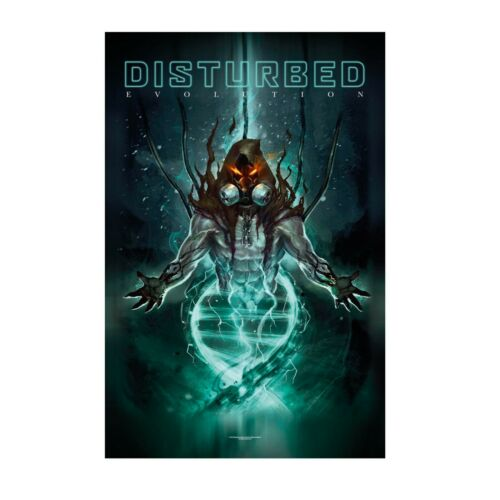 Disturbed Evolution Tapestry Fabric Cloth Poster Flag Banner