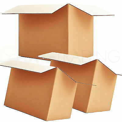 10 x SINGLE WALL MAILING POSTAL CARDBOARD BOXES 17x10x5