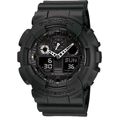 Casio G-Shock GA-100-1A1 Analog-Digital Blackout Military Men's Watch