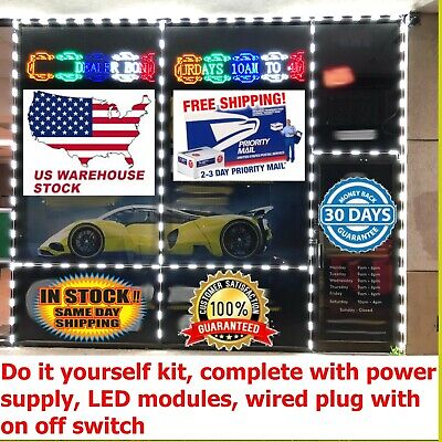 Diy Kit 12v Dc 30a Power Supply 100pc Led Modules Wired Plug With On Off Switch