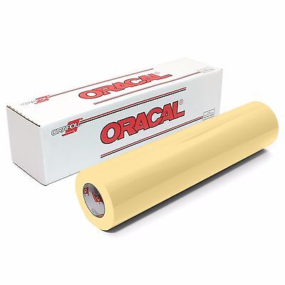 ORACAL 651 Outdoor Permanent Vinyl - CREAM 12in x 10ft Roll
