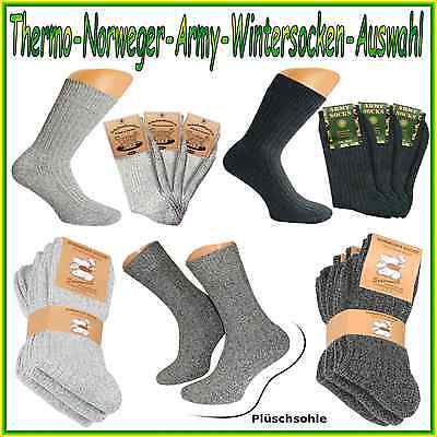 Arbeitssocken Army Jägersocken Norwegersocken Wintersocken Thermosocken   #