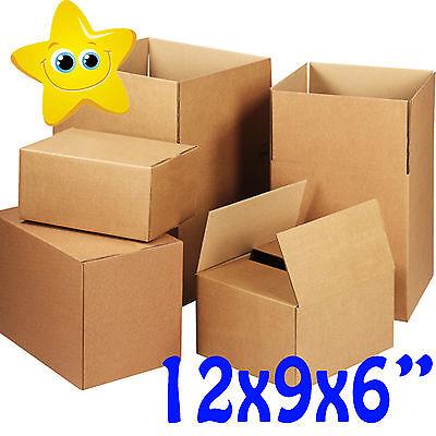 50 x MEDIUM CARDBOARD BOXES 12x9x6