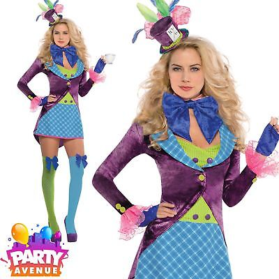 Mad Hatter Fancy Dress Costume Ladies Outfit Plus Size 8-16 Alice in Wonderland](Plus Size Mad Hatter Costumes)