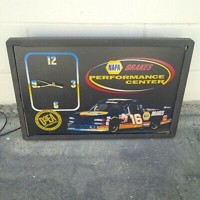 Vintage Wall Clock Sign NAPA Brakes Auto Parts Shop Decor Works Made in USA