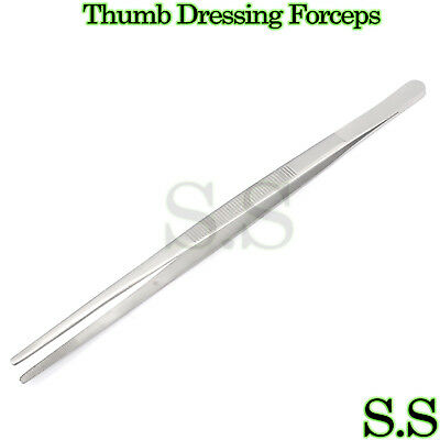 High Grade Thumb Dressing Forceps Serrated 8 Tweezers Surgical Instruments
