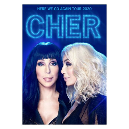 "Cher 2020 ""Here We Go Again Tour"" Program New! Mint.. Plus FREE Dancing Queen CD"