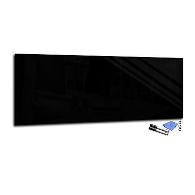 Magnetic Glass Dry-Erase Board T01 40x100cm black (Black Dry Erase Board)