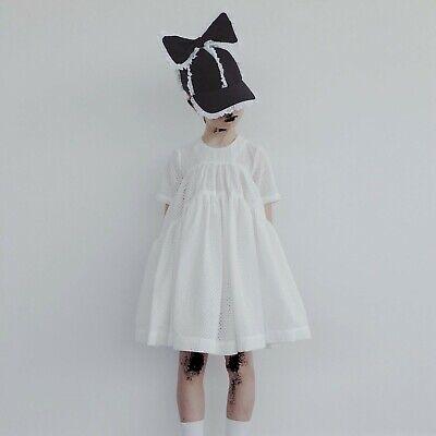 Caroline Bosmans Caroline Bosmans White Embroidered Puff Dress size 6