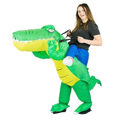 Adult Inflatable Blow Up Crocodile Animal Costume Outfit Suit Halloween One Size - Crocodile Adult Costume