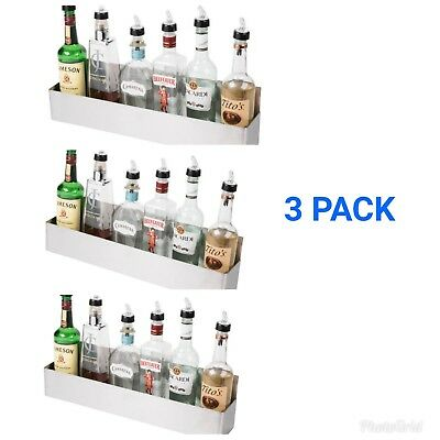 3 Pack 22 Silver Stainless Steel Single Tier Commercial Bar Speed Rail Rack Nib