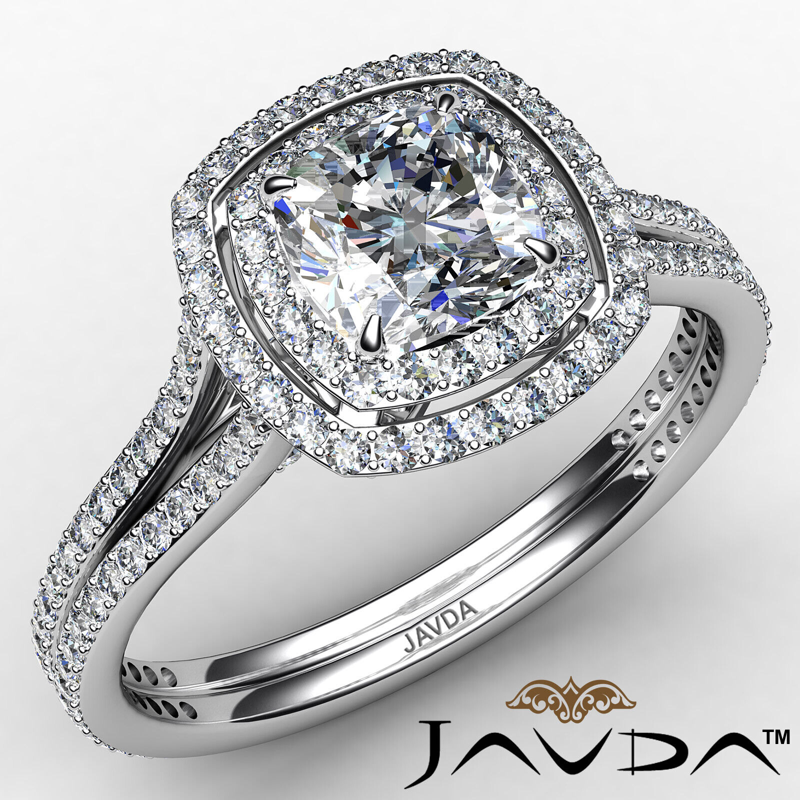 2.45 ctw Cushion Diamond Engagement Ring GIA Certified I Color & VS1 clarity