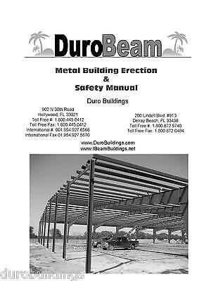 Duro Pre-engineered I-beam Steel Metal Building Erection Construction Manual