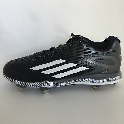 info for 69632 1edec Adidas Power Alley 3 Litestrike Baseball Cleats Mens 7 Black White Carbon  S84762