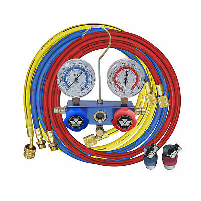 Mastercool Ac Charging Manifold With Gauges And Hoses For R-134a R-12 R-22