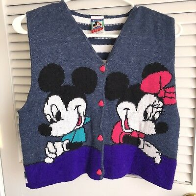 Vintage Disney Child Sweater Vest Size Large 12-14, Vintage Children's - Disney Children's Clothing