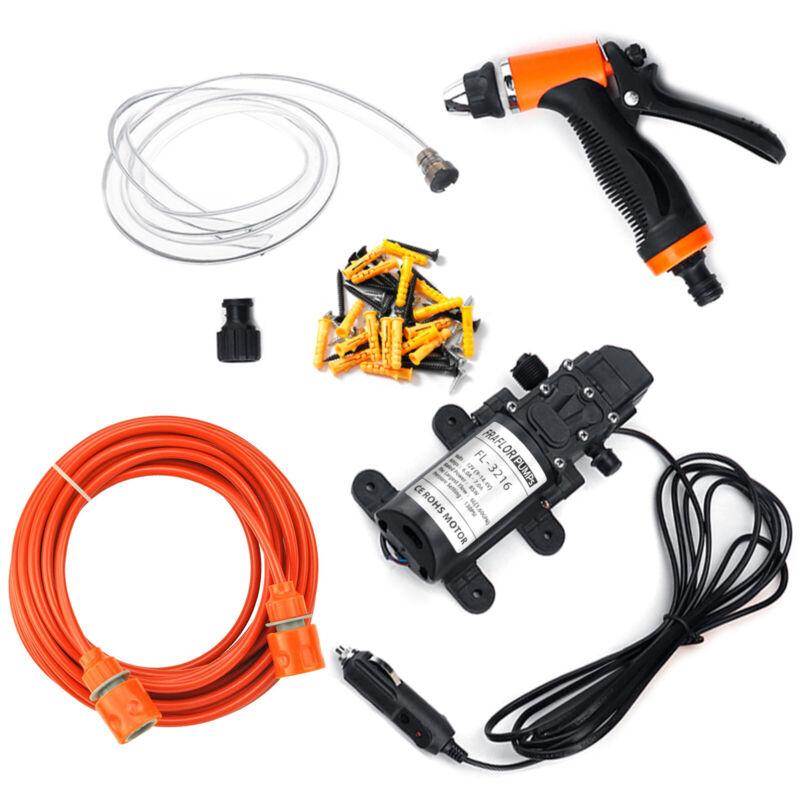 Portable 12V 130PSI High Pressure Car Wash Pump Kit Electric Washer Self Priming